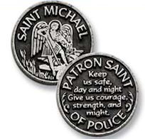 St. Michael Pocket Coin Token Police