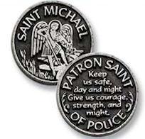 St. Michael Pocket Coin Token Pewter