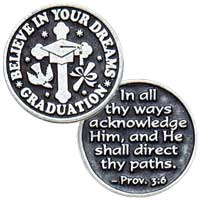 Believe In Your Dreams Graduation Coin