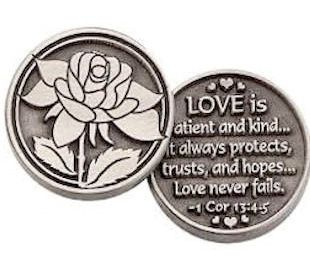 Coin Love is Patient. Love is Kind
