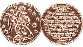 Guardian Angel Protect Us Rose Gold Coin
