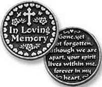 In Loving Memory Coin with Cross
