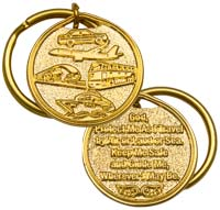 Travel God Protection Me Gold Keychain - Car, Airplane Ship