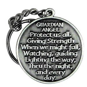 Guardian Angel Protect Me Key Chain - Back