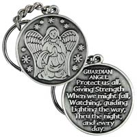 Guardian Angel Protect Us Key Chain