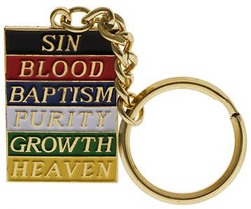 Plan, Colors of Salvation Key Ring Multicolored