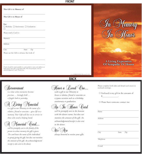 Promotional Folder for In Memory