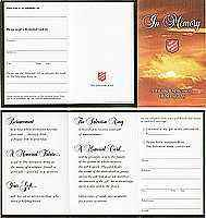 Salvation Army Promotional Folder for In Memory (100)