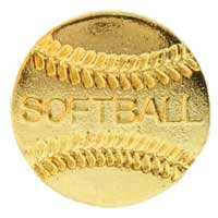 Softball Pin Gold
