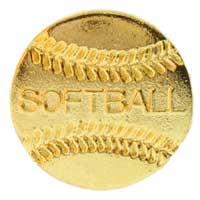 Softball Pin Gold