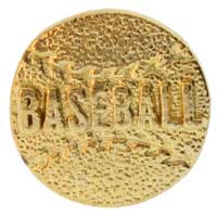 Baseball Pin Gold