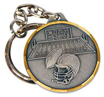 St. Christopher Football Key Chain