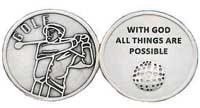 Golf Ball Coin Silver, Ball Marker