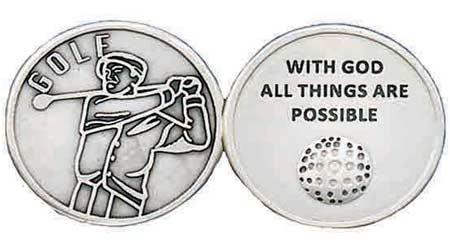 Golf Ball Coin Silver, Ball Marker