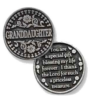 granddaughter Pocket tokens for family and friends