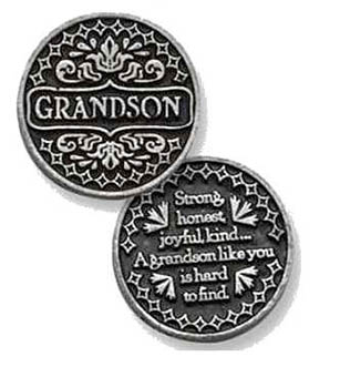 grandson Pocket tokens for family and friends