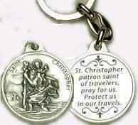 Saint St Christopher Key Chain