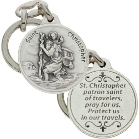 St. Christopher Travelers Prayer Key Chain