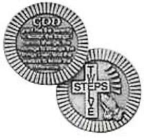 12 Step Christian Coin Pewter