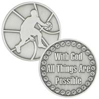 Coin - Basketball  Player - All Things Possible - Pewter
