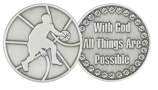 Coin - Basketball - All Things Possible With God