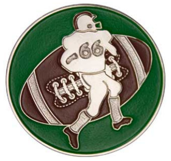Football Player Coin Silver With God