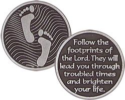 Footprints of the Lord Coin Pewter