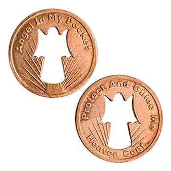 Angel Penny Coin, Protect & Guide Me - Angel Cut-out