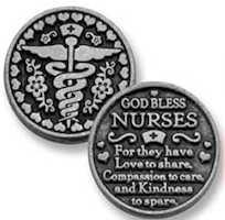 God Bless Nurses Coin