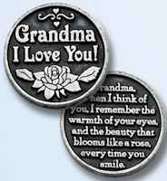 Grandma, Aunt, GodFather I Love You Coins