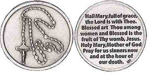 Rosary Hail Mary Pocket Coin