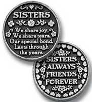 Sister Coin Token Pewter
