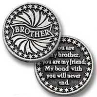 Brother  pocket Coin pewter