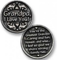 Grandpa I Love You Coin