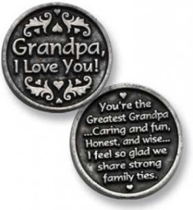 Grandpa I Love You Pewter Coin