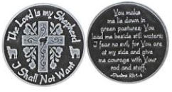 Lord is My Shepard Coin Bible Quote Religious