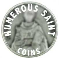 Saint Coins -  Many Different Saints  Pewter