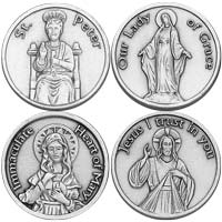 Saint Coins - 50 Different Types Pewter
