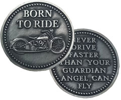 Motorcycle Angel Coin  Born to Ride