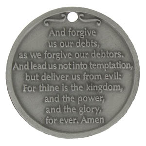 The Lord's Prayer Coin Pewter