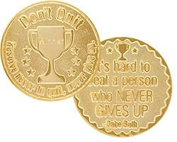 Sports Coin Don't Quit Never Give Up