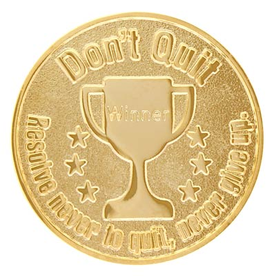 Don't Quit Never Give Up Sports Coin