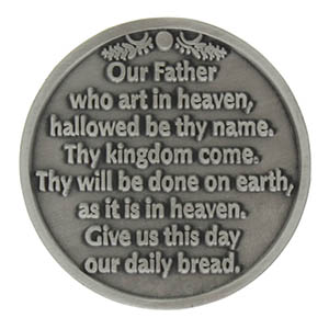 the our father prayer catholic pocket coin token