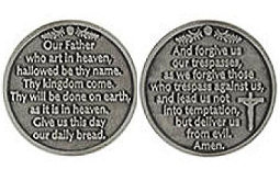 Our Father Prayer Coin Catholic