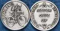 Champions Never Quit Cycling Coin