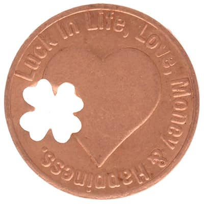 Lucky Penny with 4 Leaf Clover - back