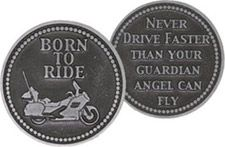 Motorcycle Coin Born to Ride