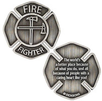 FireFighters Pocket Coin Caring Heart
