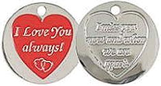 I Love You Always - Love Hearts Coin