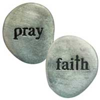 Pray Faith Pewter Pocket Stones
